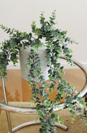 kunst hangplantje, groene hangplant voor binnen, plant in huis, nepplant, neppe plant