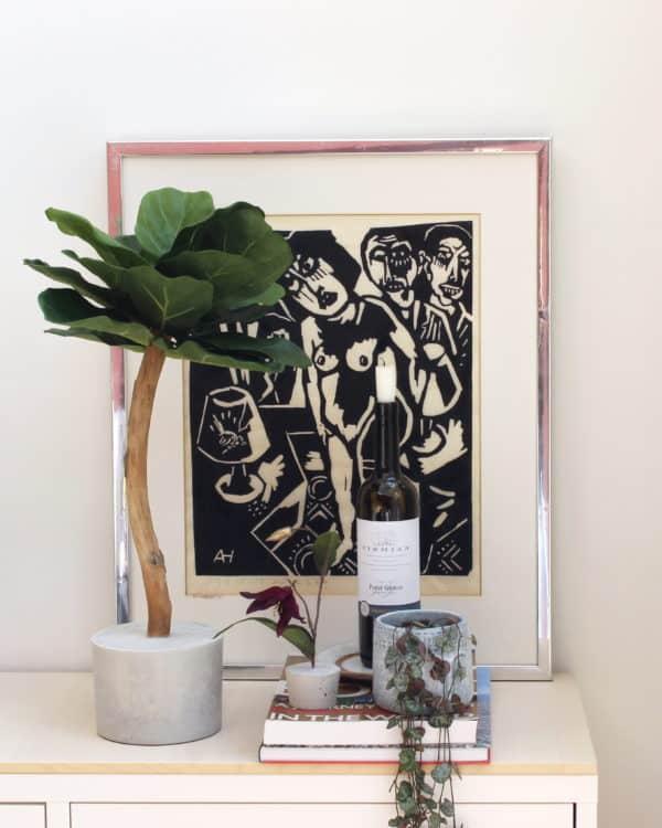 kunst vijgenplant kunst ficus kunst vijgenboompje boommade vijgenboom kunst ficus lyrata duurzame mooie kunstplant neppe plant interieurplant interieurboom