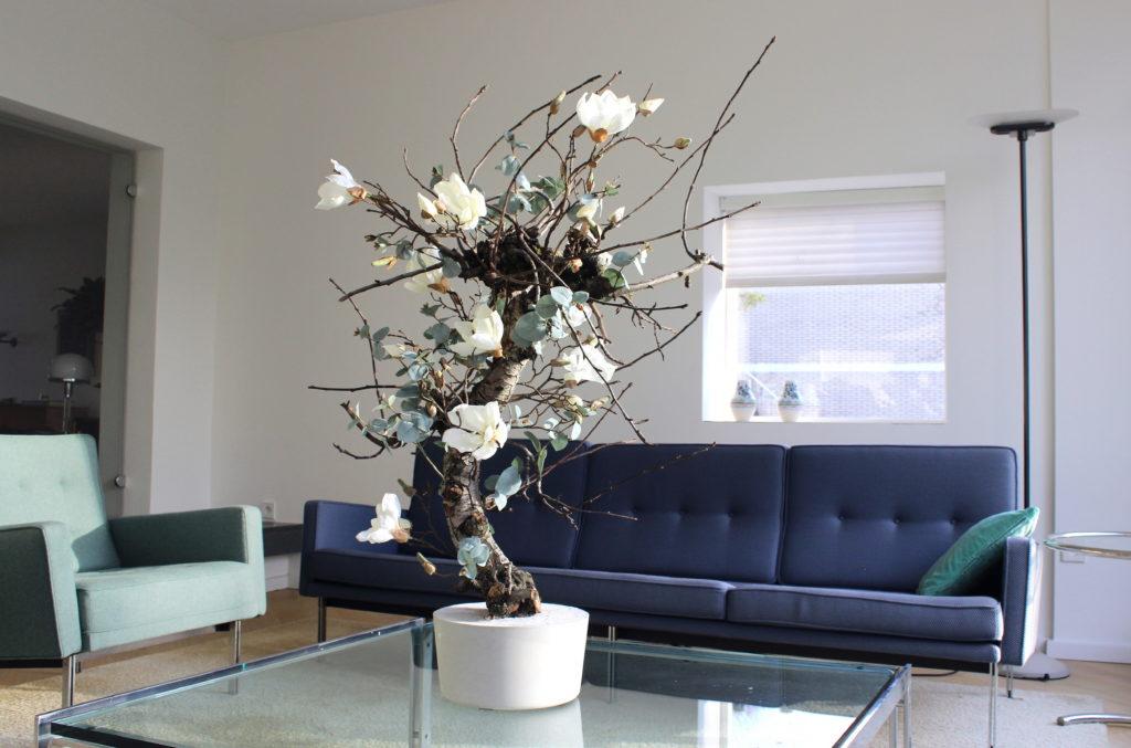 kunst magnoliaboom kunst bloesemboom kunst bloemstuk kunstboom kopen kunstplant kopen interieurboom kopen op maat natuurgetrouw boommade bomen