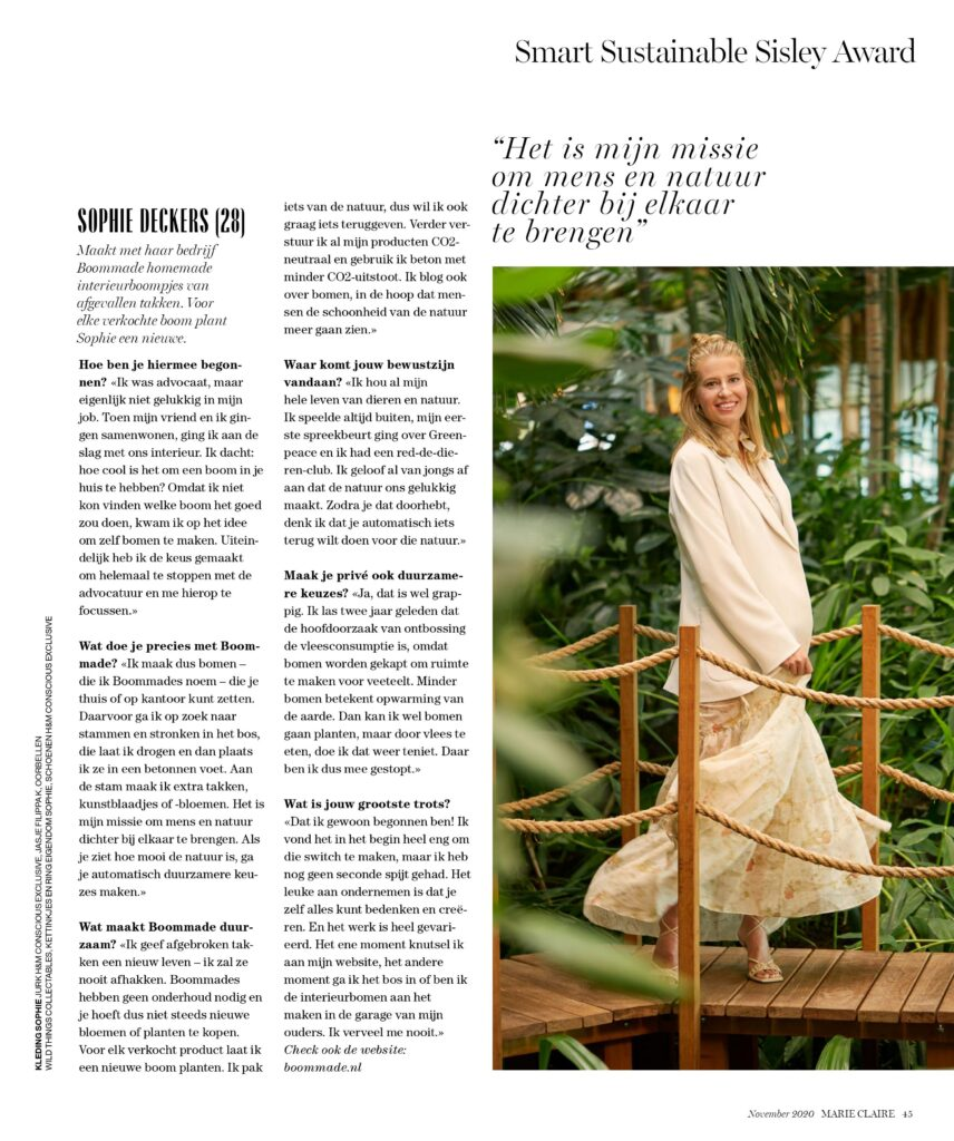 interview Sophie Deckers Boommade Marie Claire